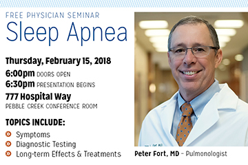 community seminar information card for Dr. Fort Sleep Apnea Seminar