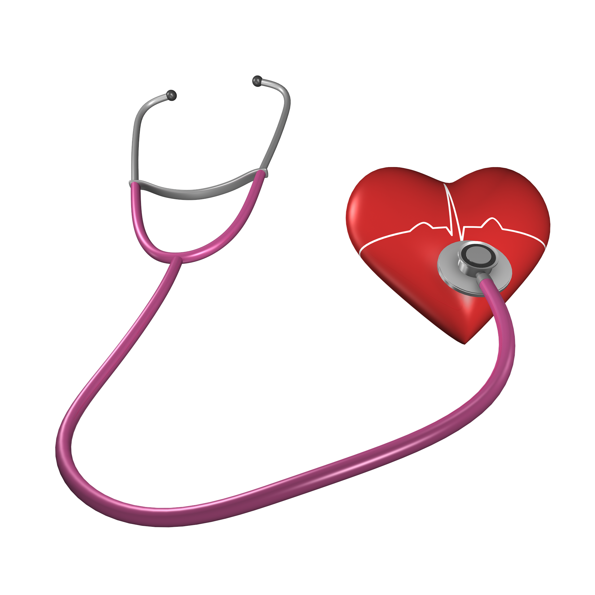 Stethoscope is listening to a heart beat