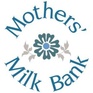 mothers' milk bank logo - round