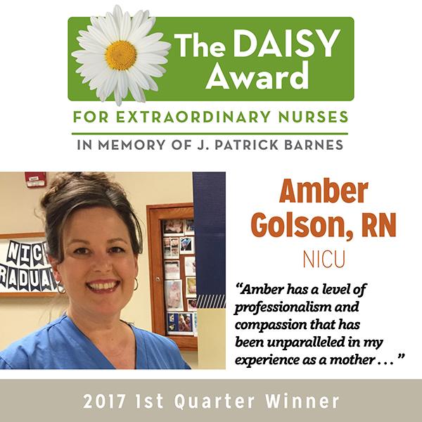 Daisy Award Winner Amber Golson, RN - Q1 2017