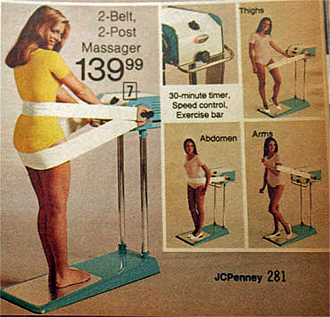 an old ad for a fat-jiggle machine